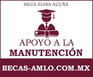 Beca Elisa Acuña de apoyo a la manutención