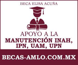 Beca Elisa Acuña Para Apoyo A La Manutencion INAH, IPN, UAM, UPN