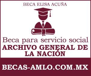 Beca para servicio social Archivo General de la Nación