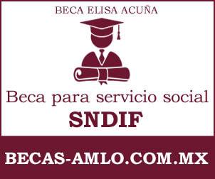 Beca Elisa Acuña para servicio social SNDIF